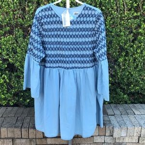NWT ASOS Denim BohemianStyle Dress Sz Uk 24 US 20